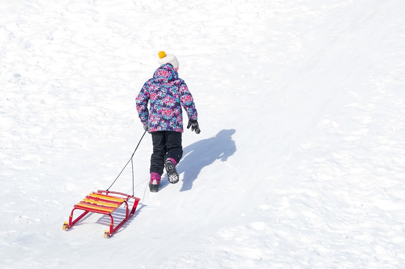 All the best sledding hills in NYC