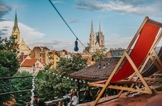 zagreb, rooftop, cathedral