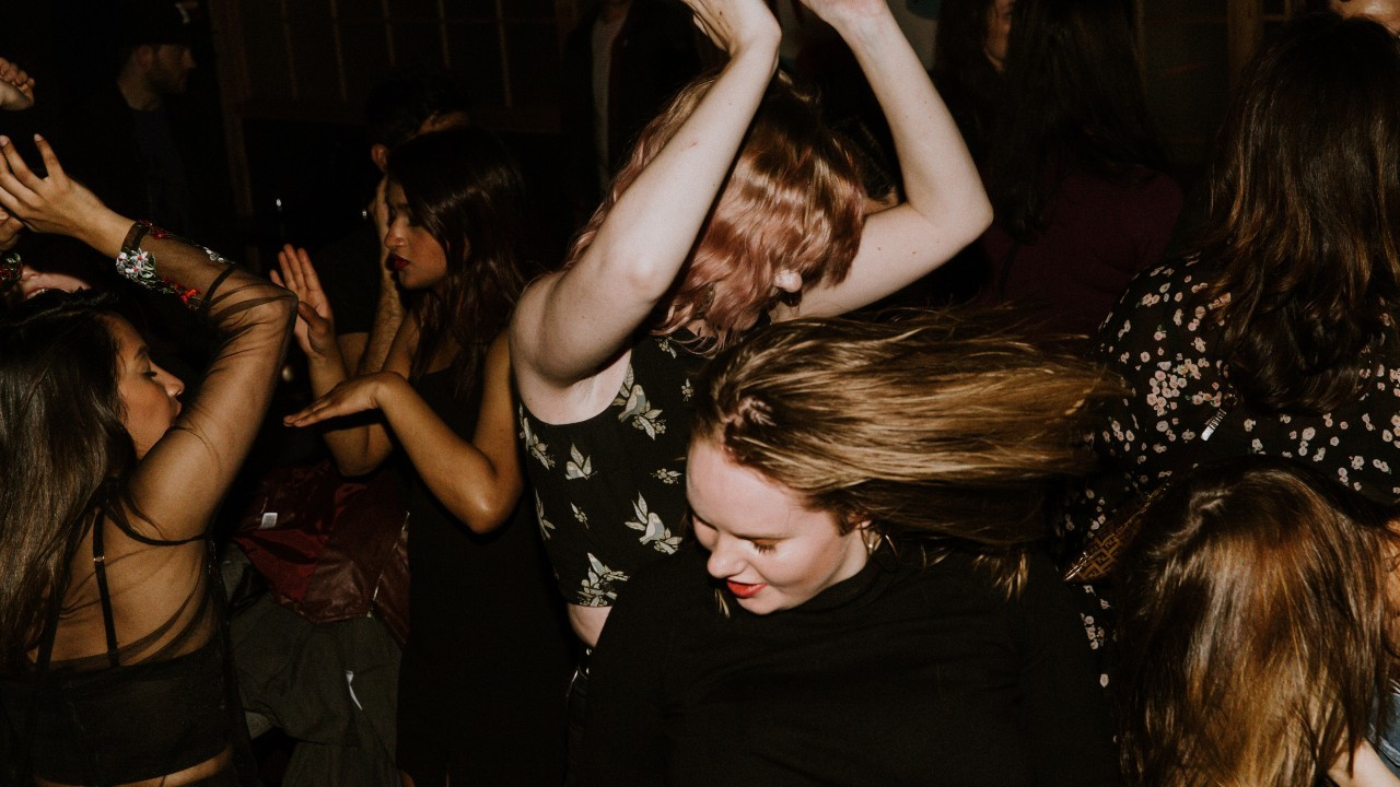Young women on the dance floor