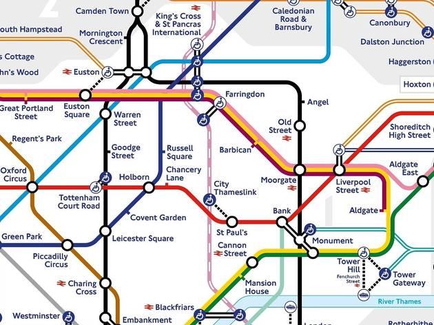 TfL tube map december 2020
