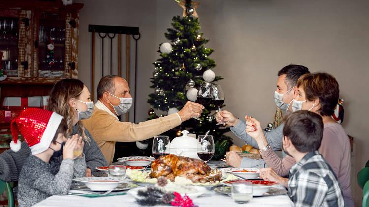 Comida familiar navidad