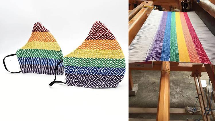 Cubrebocas arcoíris