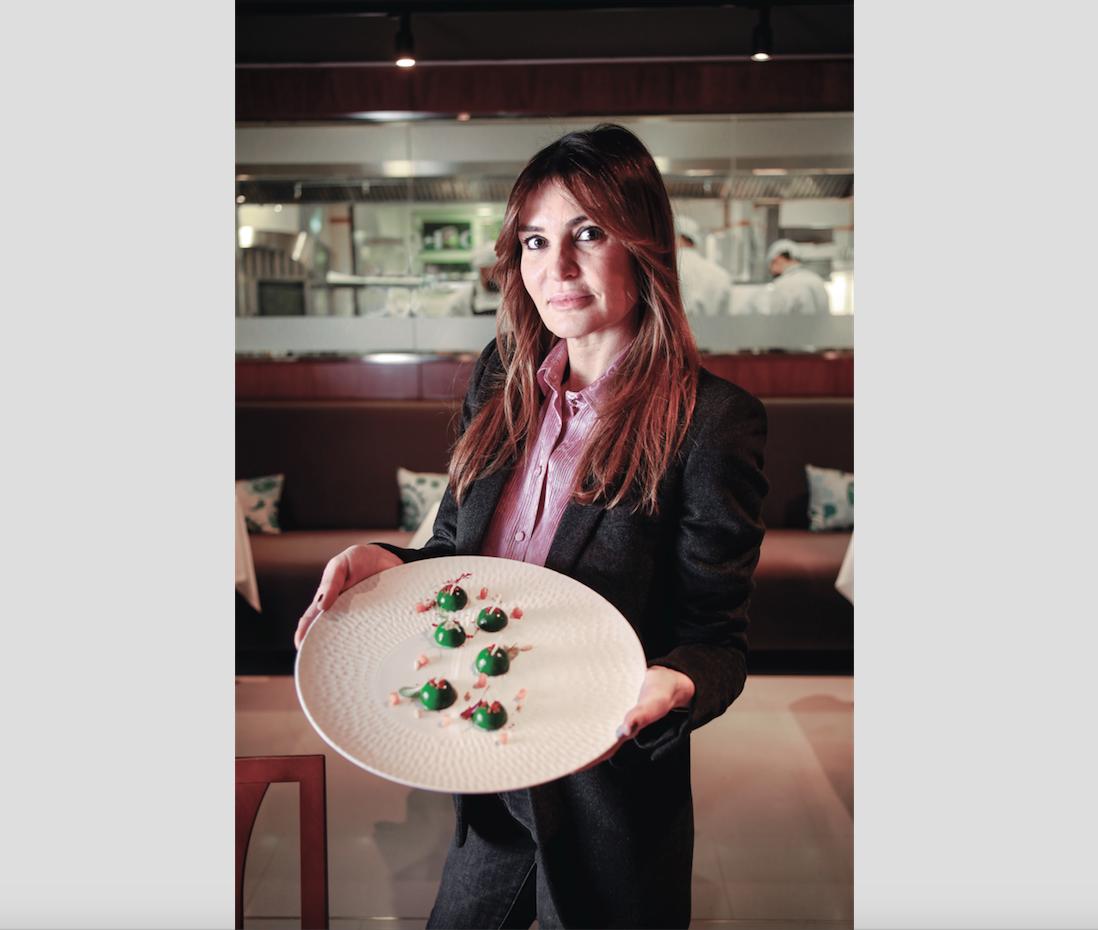 Silvia Hofmann al restaurant Hofmann