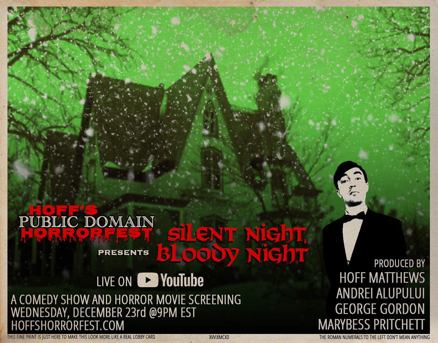 Hoff's Public Domain Horrorfest: Silent Night, Bloody Night
