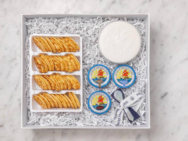 Petrossian caviar and blini