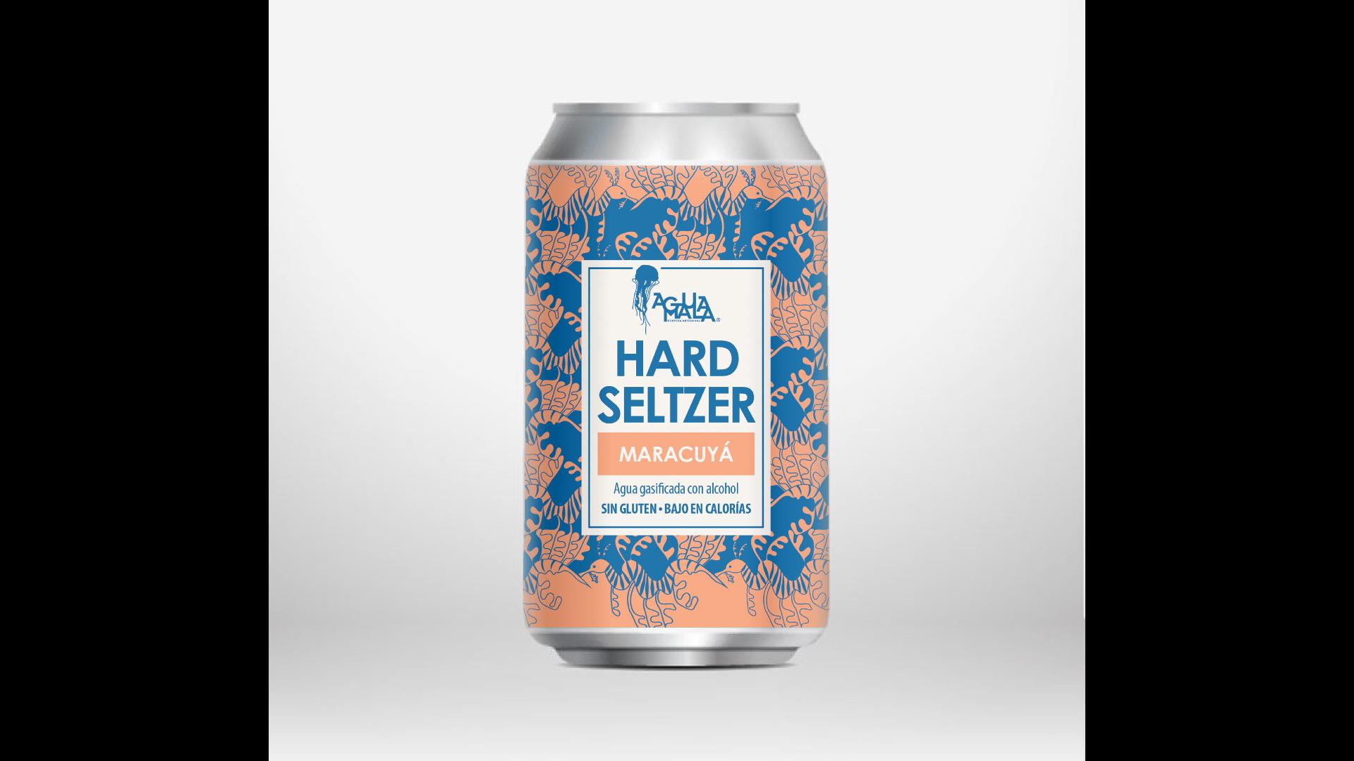 Hard seltzer de maracuyá, Cervecería Aguamala