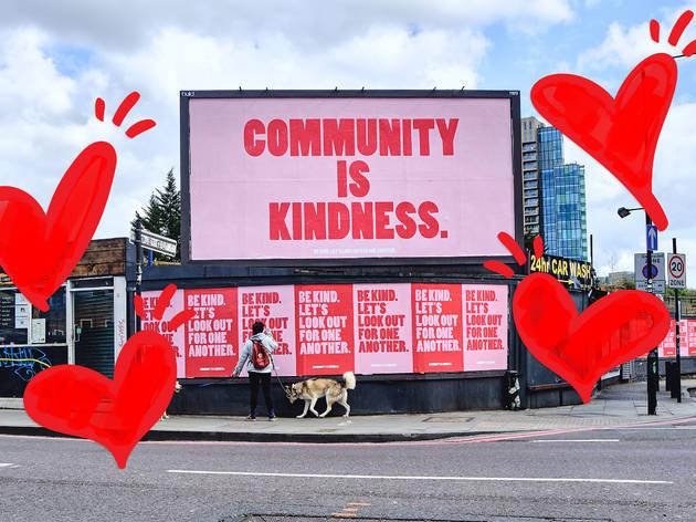 Community is Kindness billboard