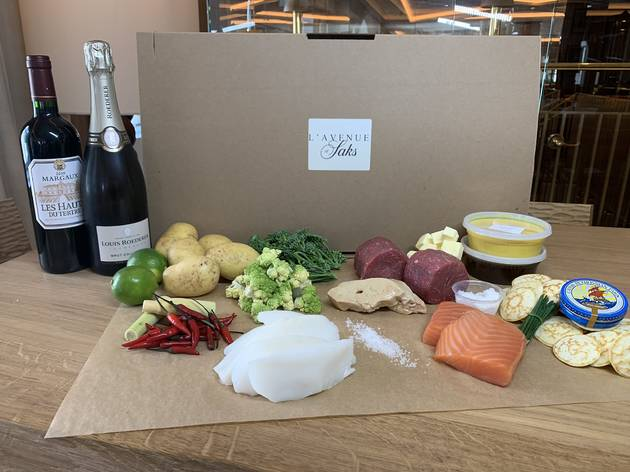 Champagne & Caviar kit at L'Avenue at Saks