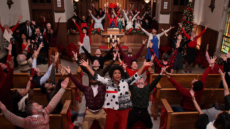 DOLLY PARTON'S CHRISTMAS ON THE SQUARE (L to R) JENIFER LEWIS as MARGELINE in DOLLY PARTON�S CHRISTMAS ON THE SQUARE