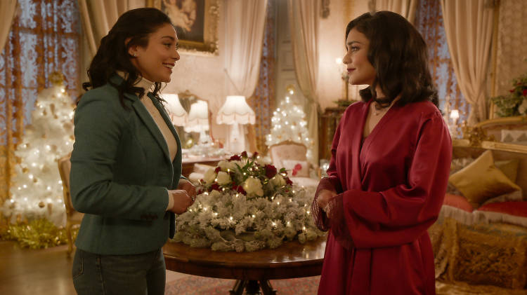 The Princess Switch: Switched Again. Vanessa Hudgens as Stacy / Margaret / Fiona in The Princess Switch: Switched Again 2020