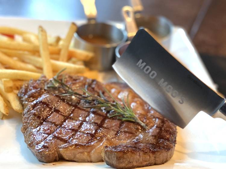 La Moo Moo's Steak and Fries:抵食牛扒套餐