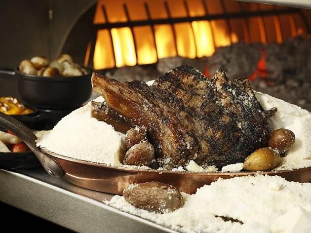 Bourbon Steak bone-in prime rib