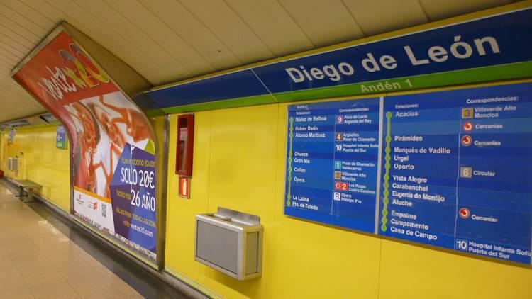 Metro Diego de León