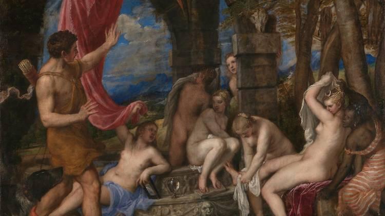 Diana y Acteón. Tiziano