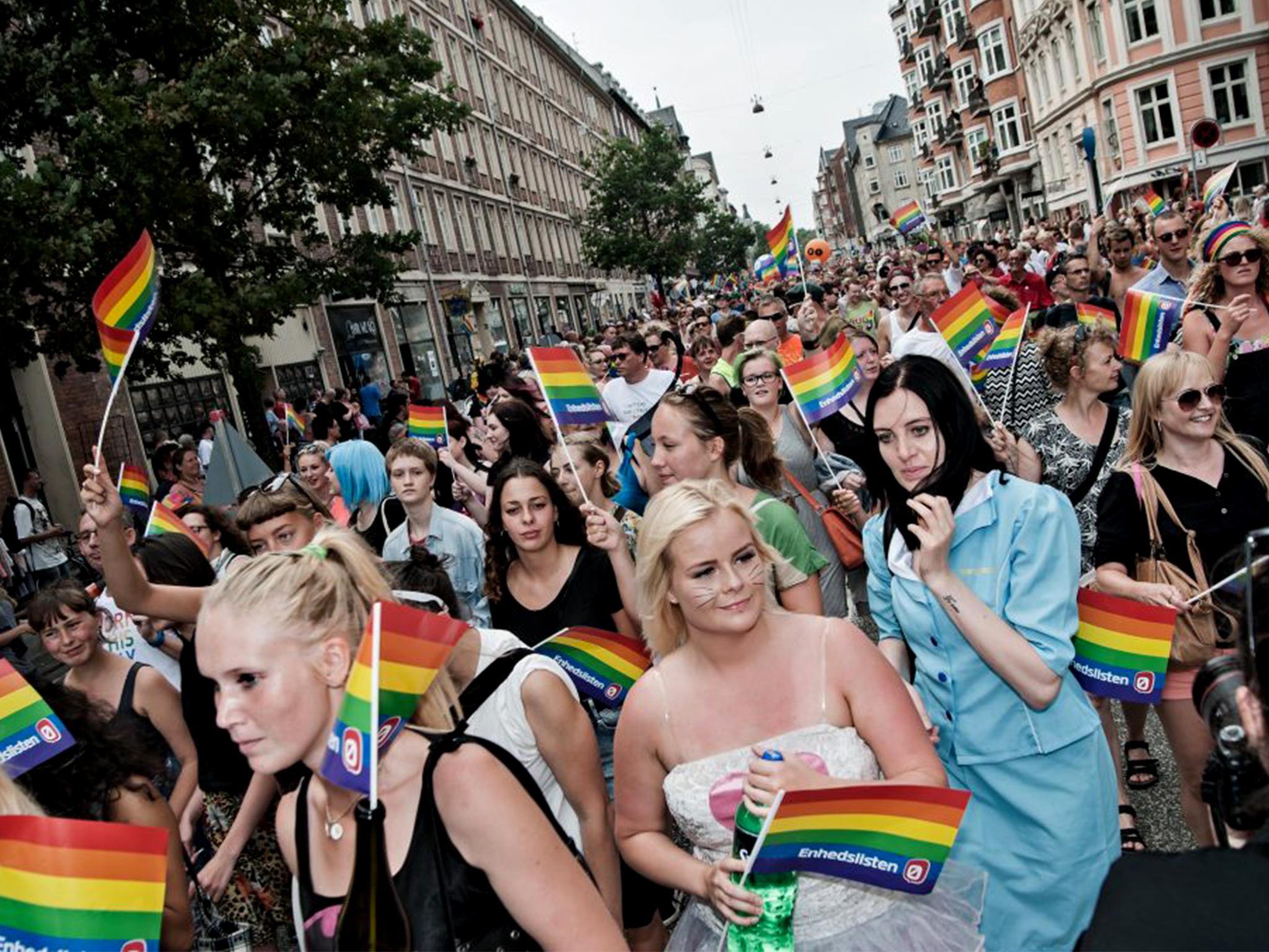Marcha, Orgulho LGBT+, Copenhaga 2021