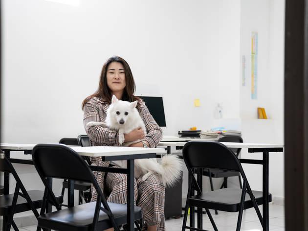 Retrato de Diana Jung, coreana que migró a la CDMX