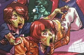 Ilustración de niños de Stranger Things convertidos en zombies
