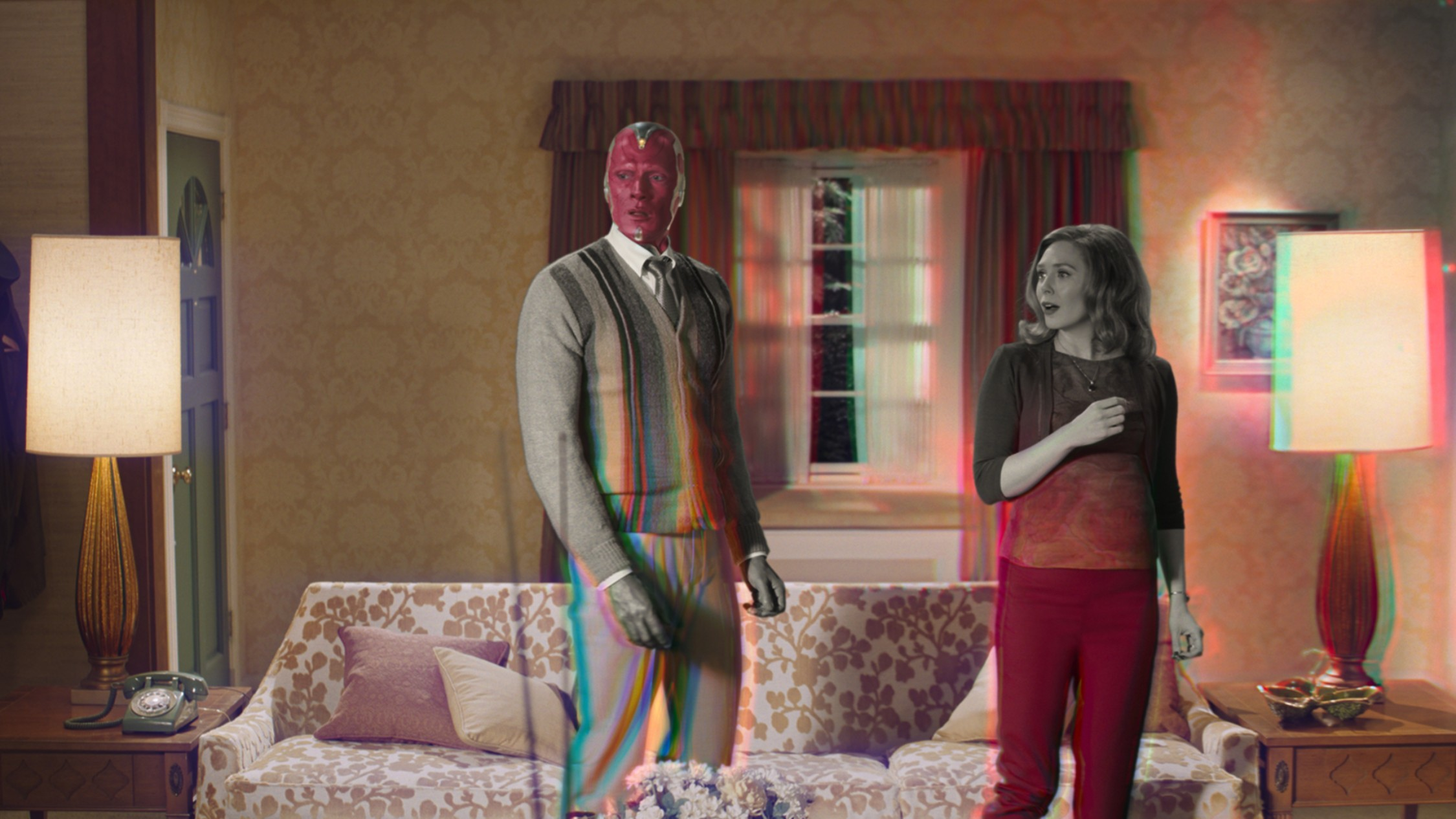 Elizabeth Olsen's Scarlet Witch and Paul Bettany's Vision