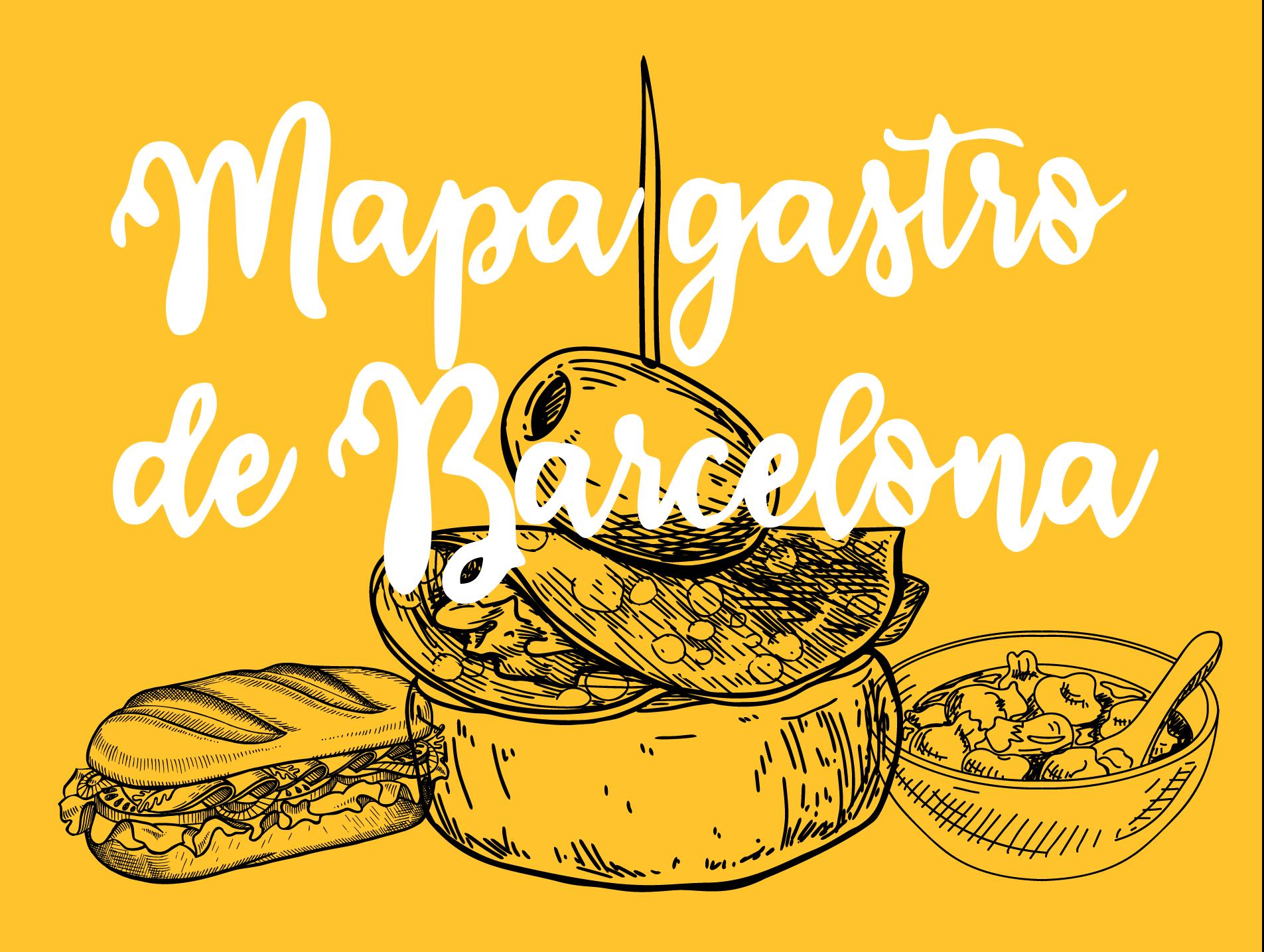 Mapa gastro de Barcelona