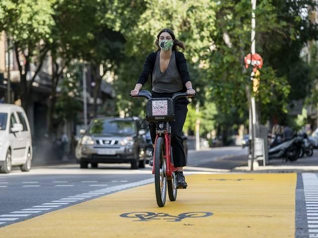 mascareta, bici, confinament, municipal