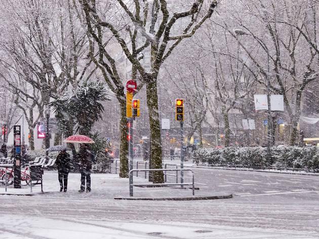 Tempesta de neu a Barcelona el 2010