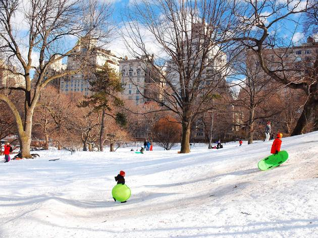 Fun sledding hills in NYC
