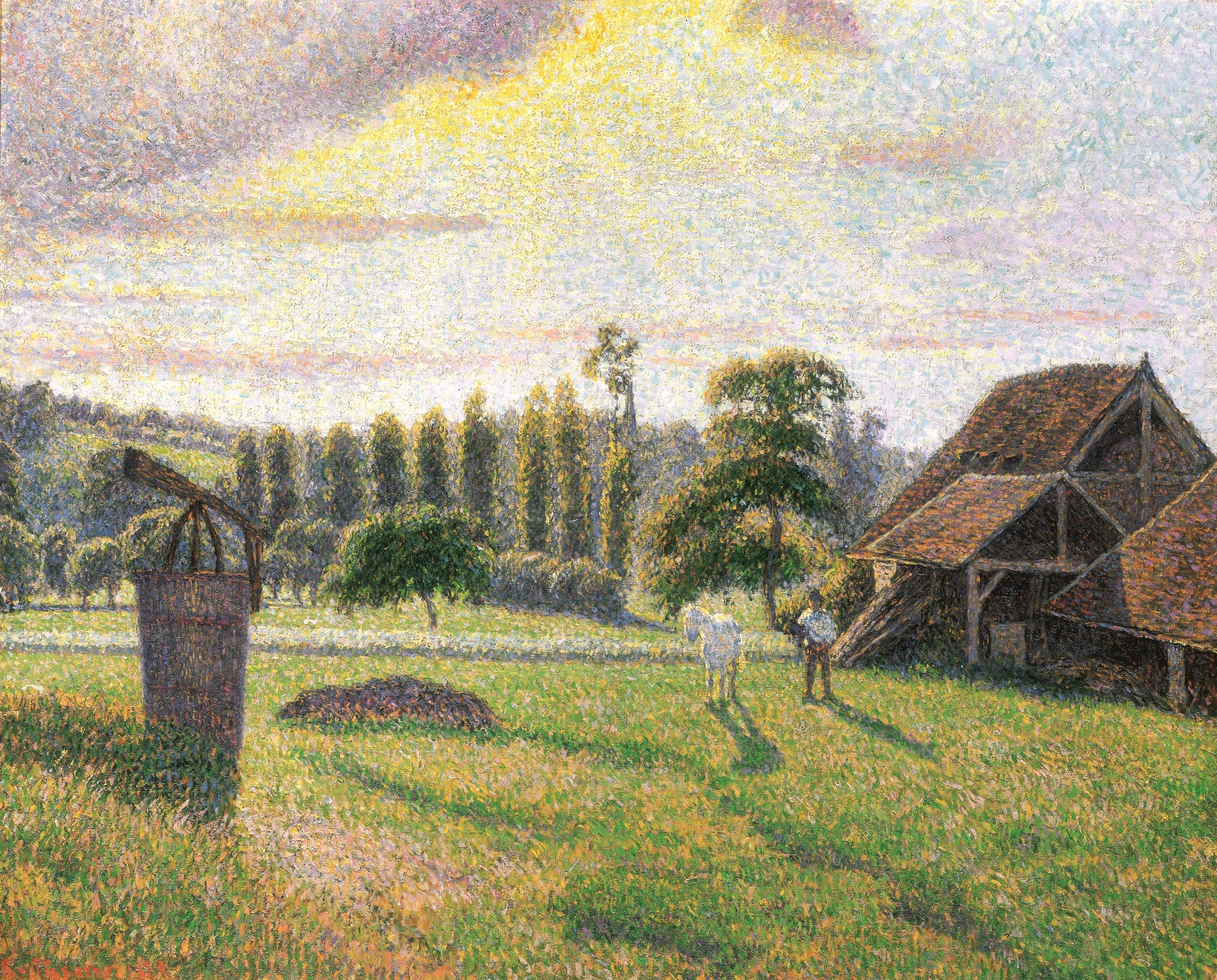 Camille Pissarro (1830-1903), The Delafolie Brickyard at Éragny, 1886, oil on canvas. Private collection