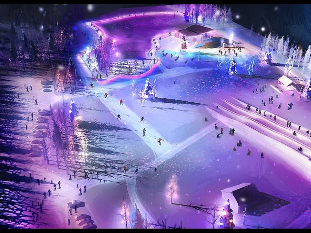 There are plans to open a free illuminated winter playground next week south of Montreal