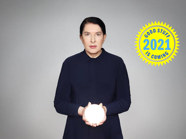 Portrait of Marina Abramovic. 2021 preview