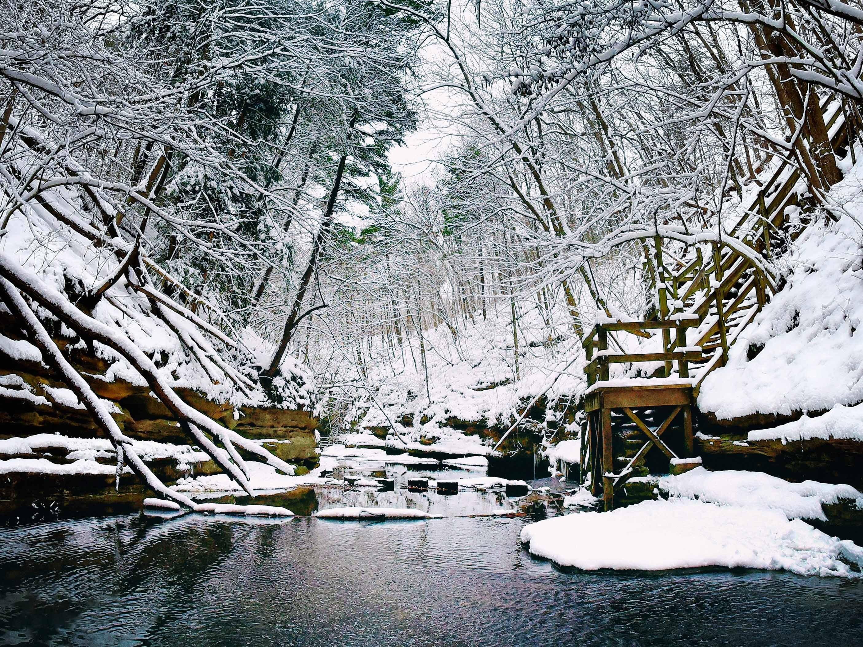 Winter Creek at Matthiessen State Park