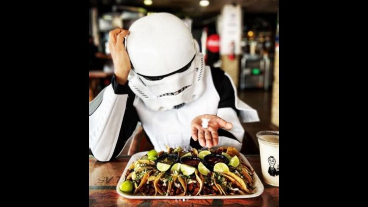 Rosca de reyes de tacos