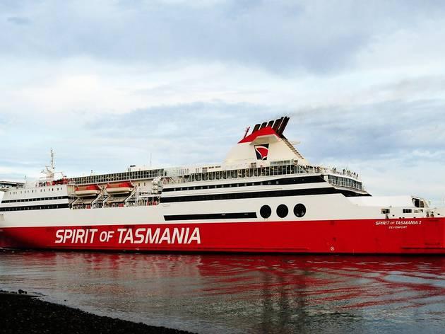 The Spirit of Tasmania ferry docked