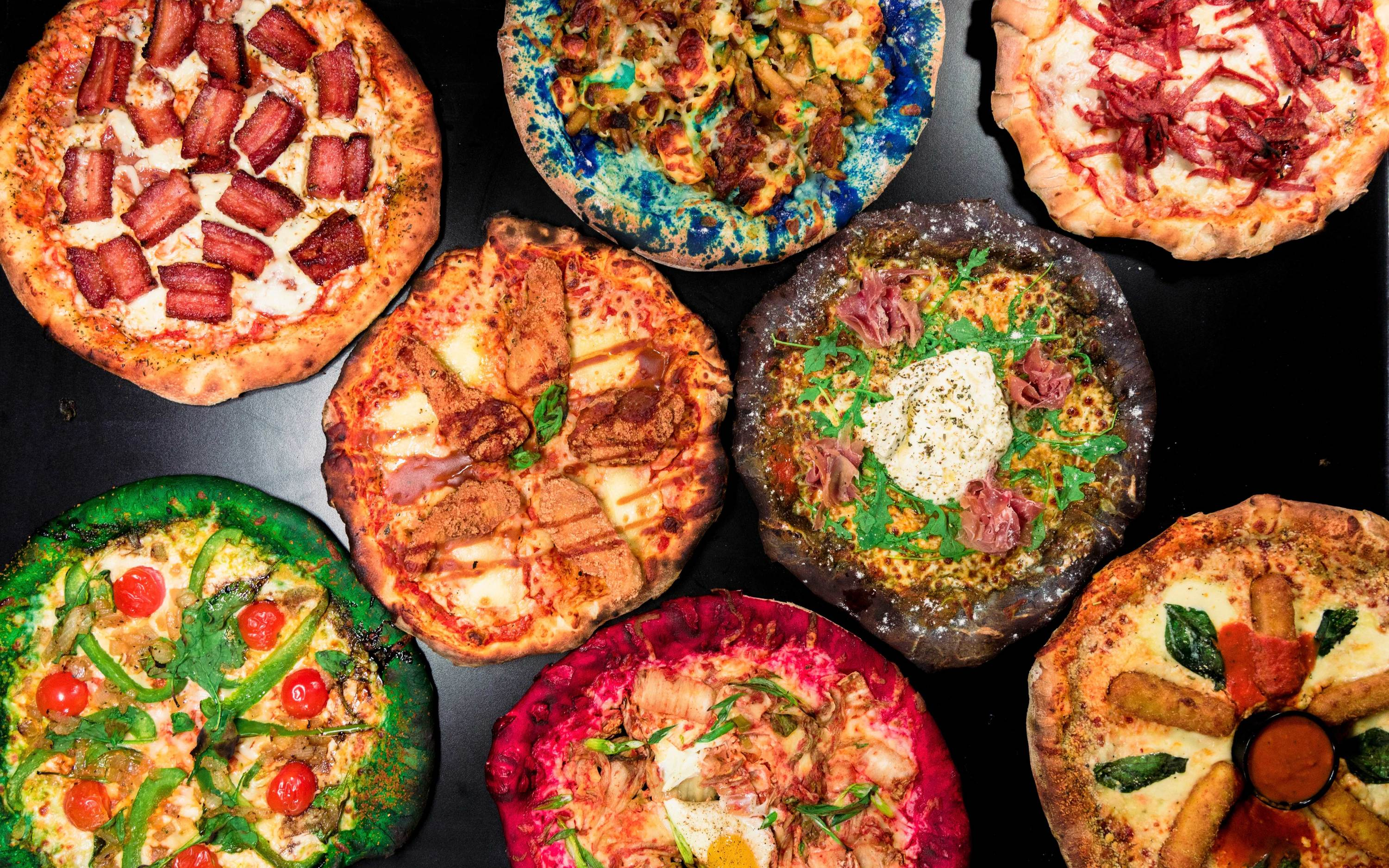 This Montreal pizzeria tops colourful pies with poutine and more, plus boozy soda and milkshakes