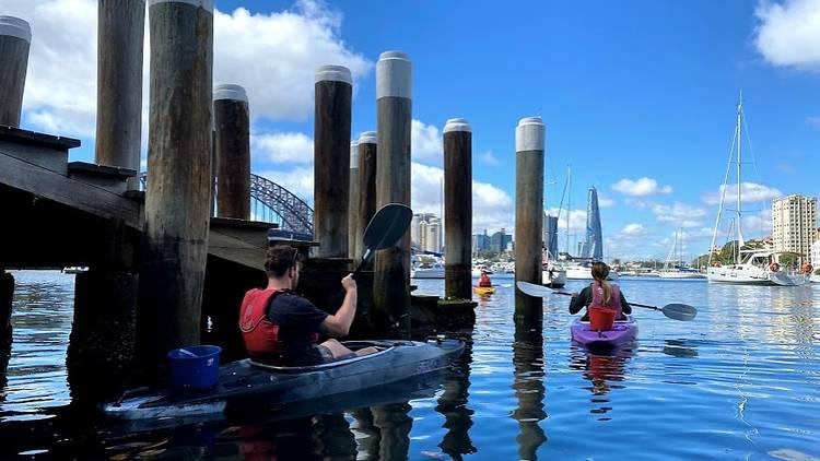 Sydney by Kayak Clean-Up Kayak Tour
