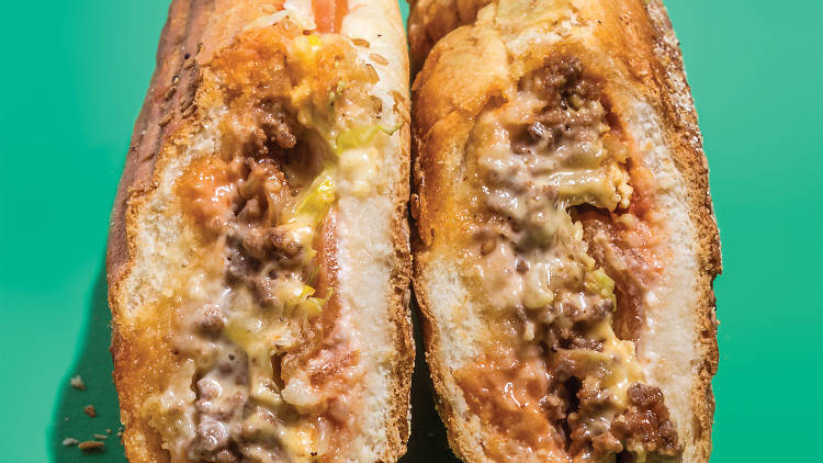 Chopped cheese at Blue Sky Deli
