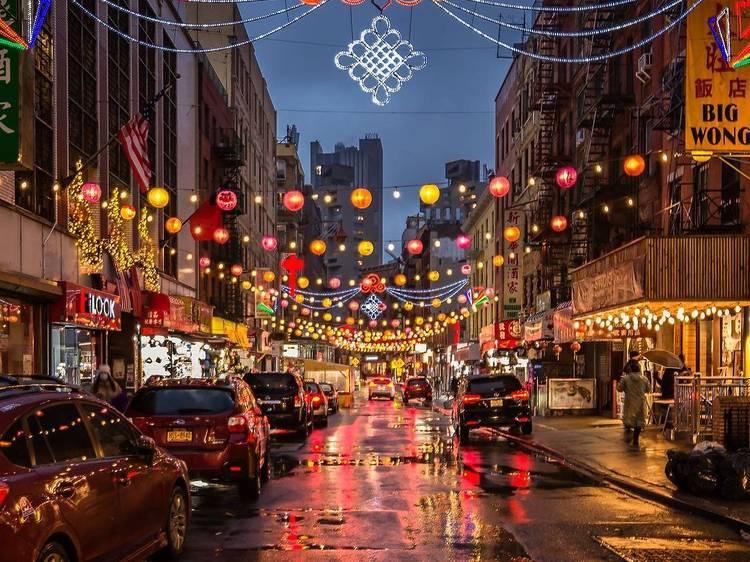Stand under hundreds of lanterns in Chinatown
