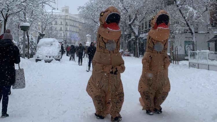 Dinosaurios nieve Madrid