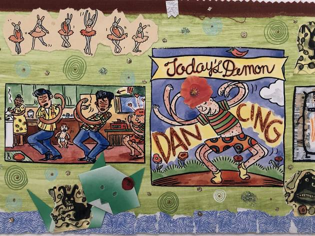 Lynda Barry, 100 Demons: Dancing, 2000-02.