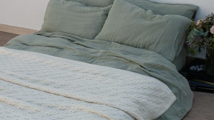 Manta de lana merino. dE.lenzo