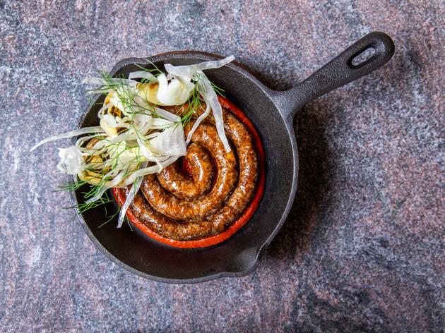 Merguez sausages at Monopole