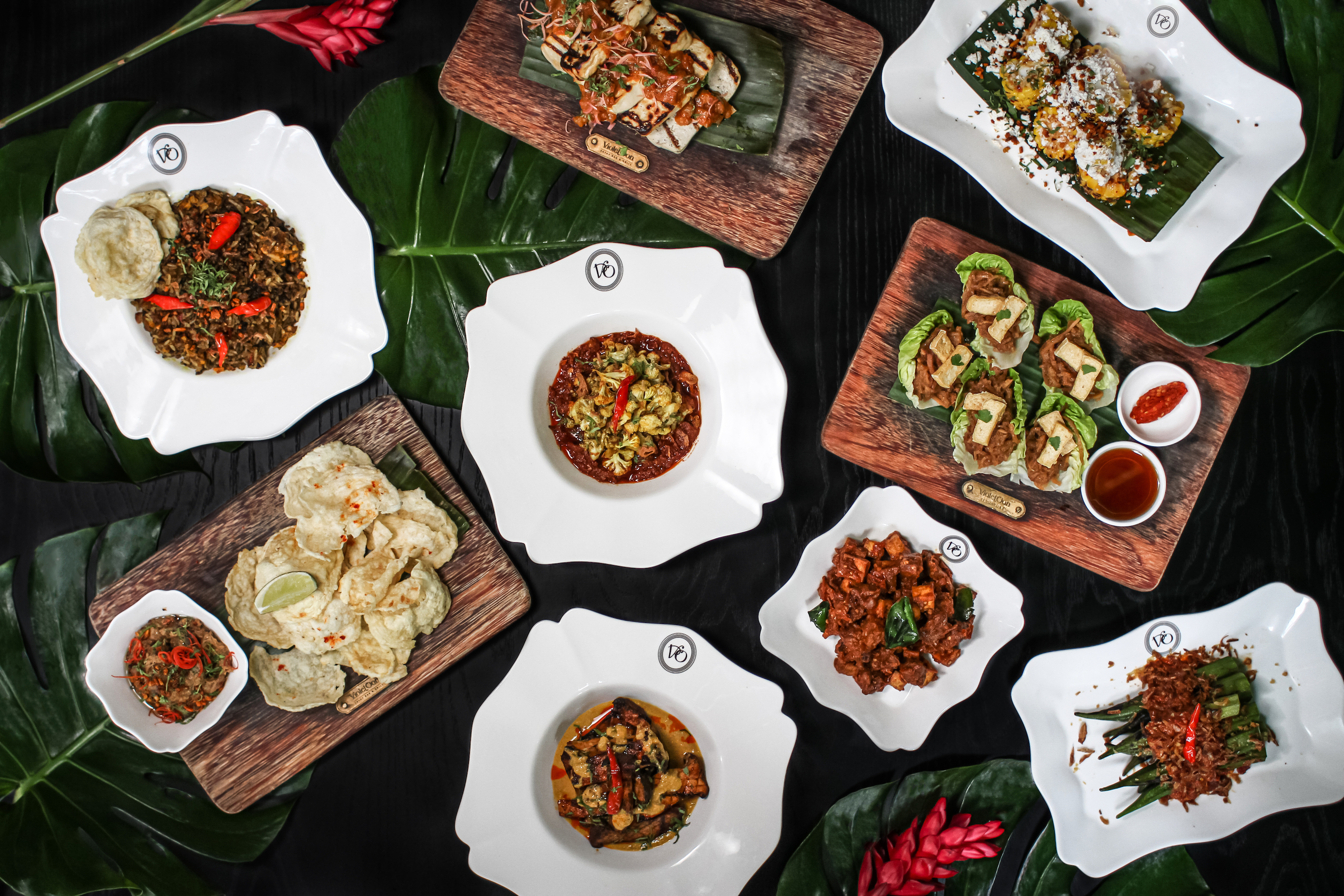 Violet Oon Singapore expands its plant-based menu with meatless satay, mushroom pongteh and more