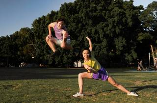 Two dancers in the park