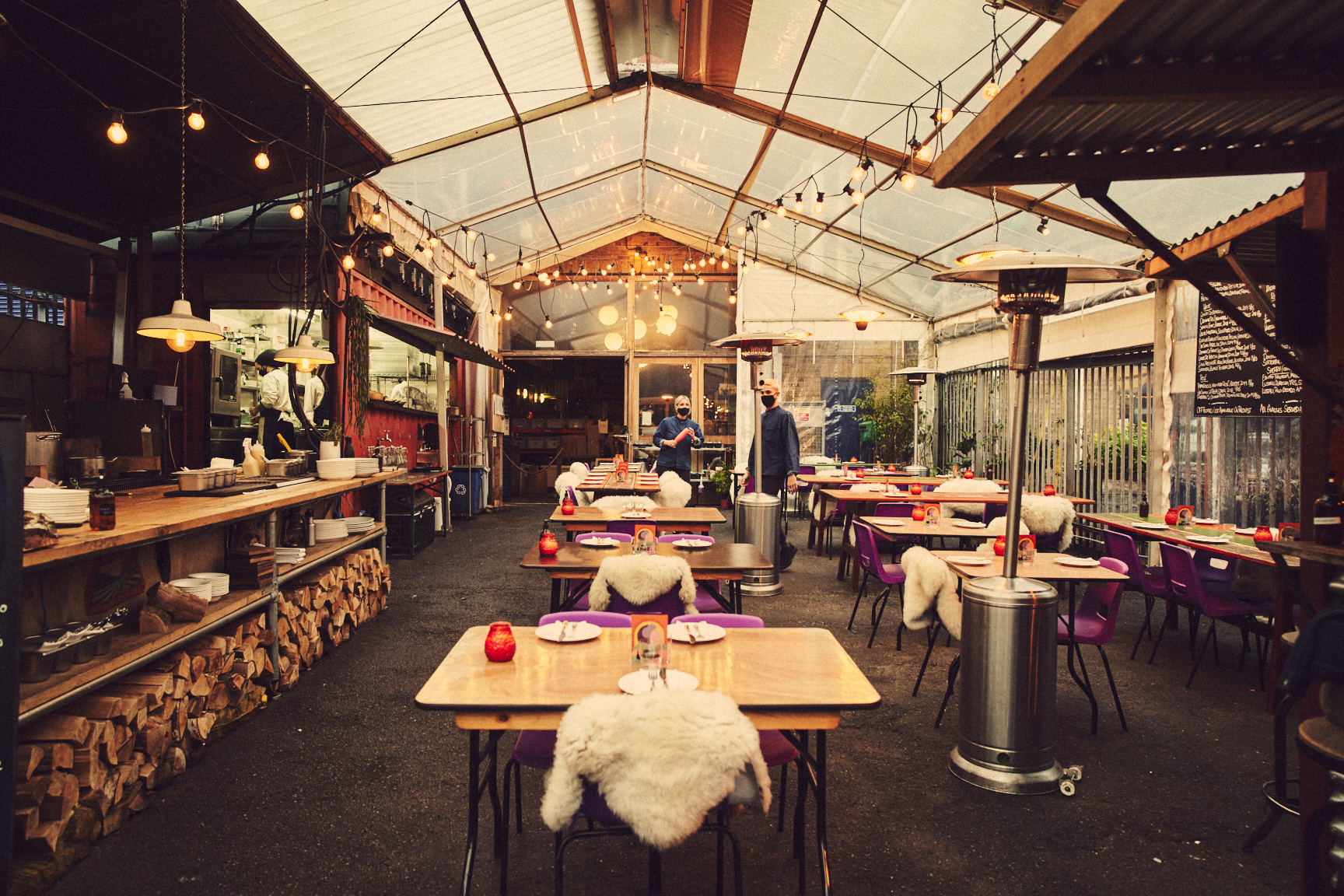 Brat restaurant pop up at Climpson's Arch in Hackney