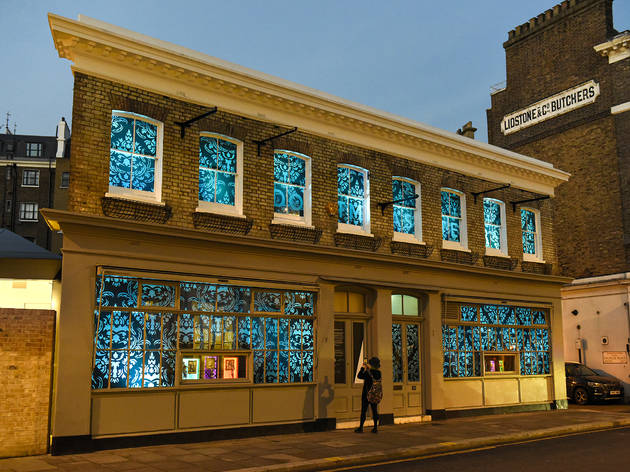 kensington and chelsea art week take over shop windows on high street