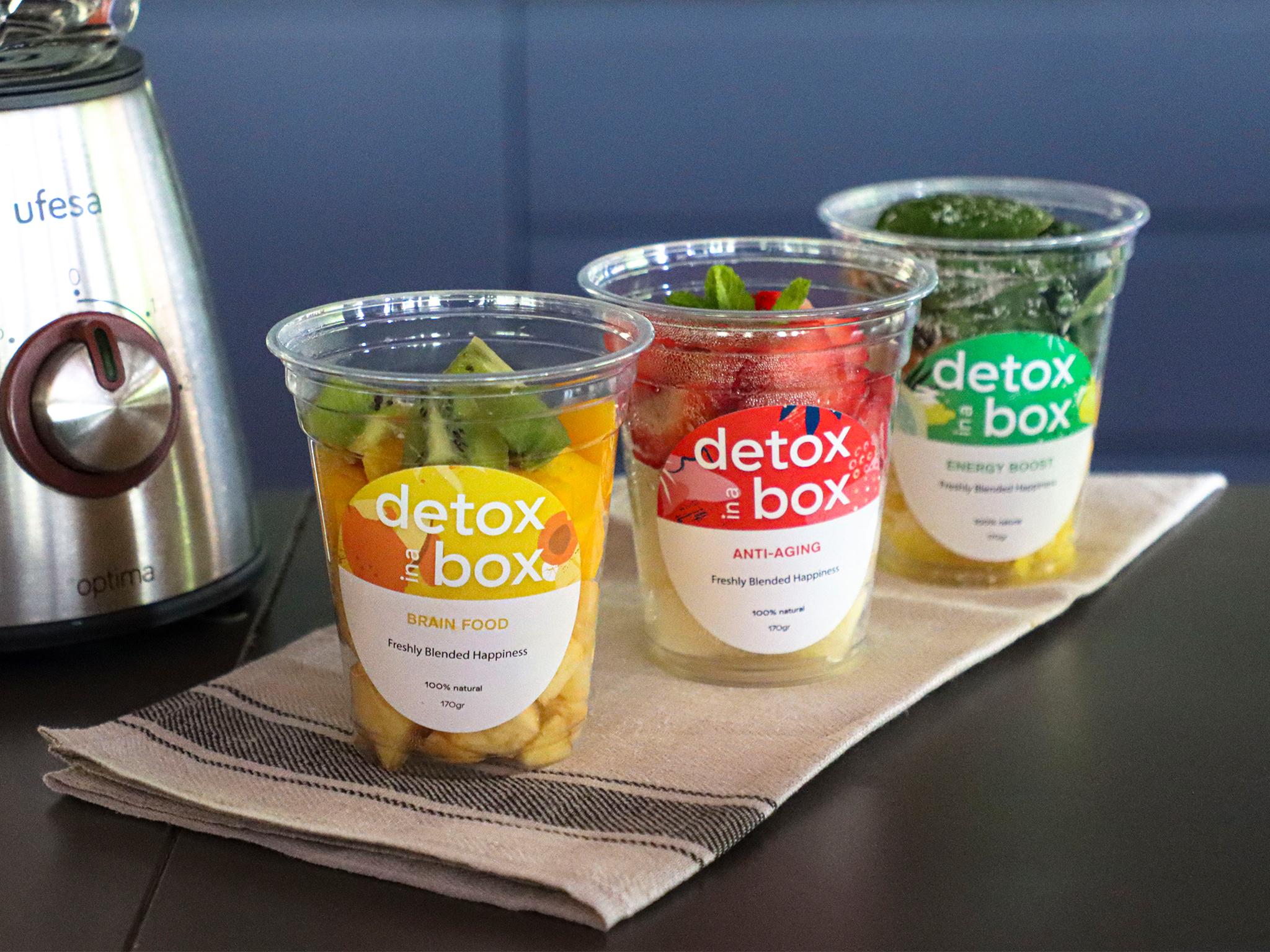 Detox in a Box, Sumos Naturais, Cozinha Saudável