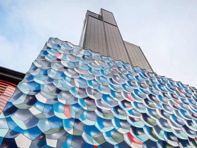 There's a new installation at the foot of Willis Tower