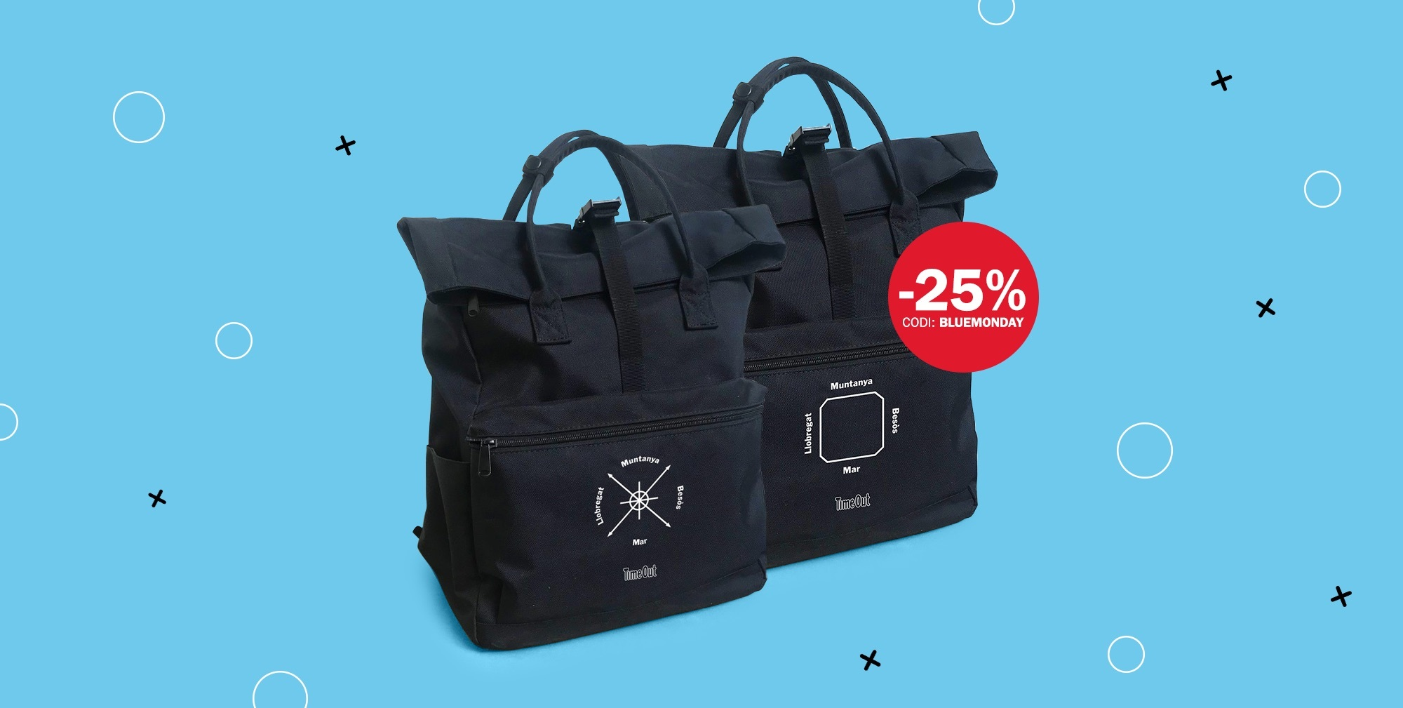 ¡La mochila Time Out con un 25% de descuento este Blue Monday!