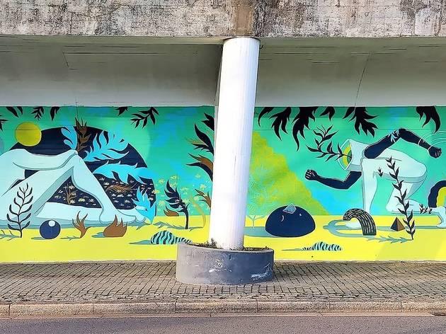 Mural de Tiago de Carvalho (Oaktree)