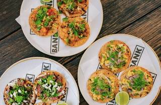 Tostadas at the Burning Heart Tequileria the Bank Hotel