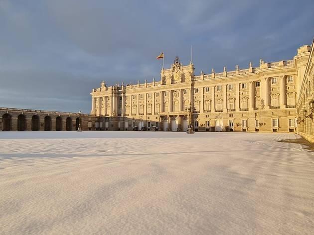 Real Monasterio de El Escorial nevado